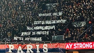Transparent na meczu PSG - Bordeaux