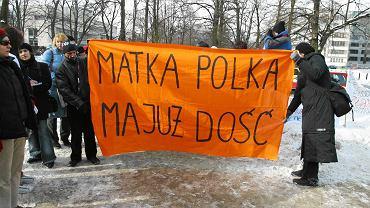 Manifestacja kobiet ws. ustawy alimentacyjnej, Warszawa, marzec 2015