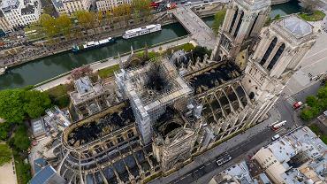 Pożar katedry Notre Dame. Paryż, 17 kwietnia 2019