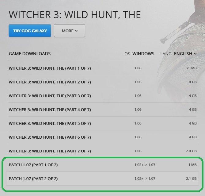 Wiedźmin 3 - patch 1.07