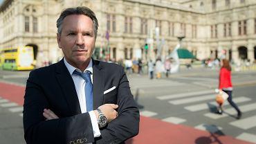 Gerald Birgfellner - beznesmen z Austrii, ktory na zlecenie Jarosława Kaczyńskiego rozpoczął projekt budowy biurowca dla partii Prawo i Sprawiedliwość. Wiedeń, 30 marca 2019