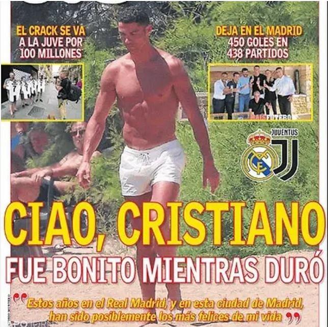 Hiszpańskie media żegnają Cristiano Ronaldo