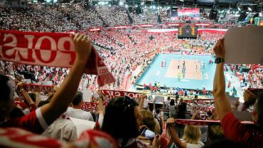 Kibice w Spodku podczas finałowego meczu Polska - Brazylia