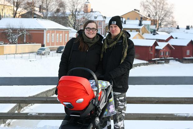 Małgorzata Maija Perä-Takkala z mężem Heikkim i córeczką Elizą, archiwum prywatne