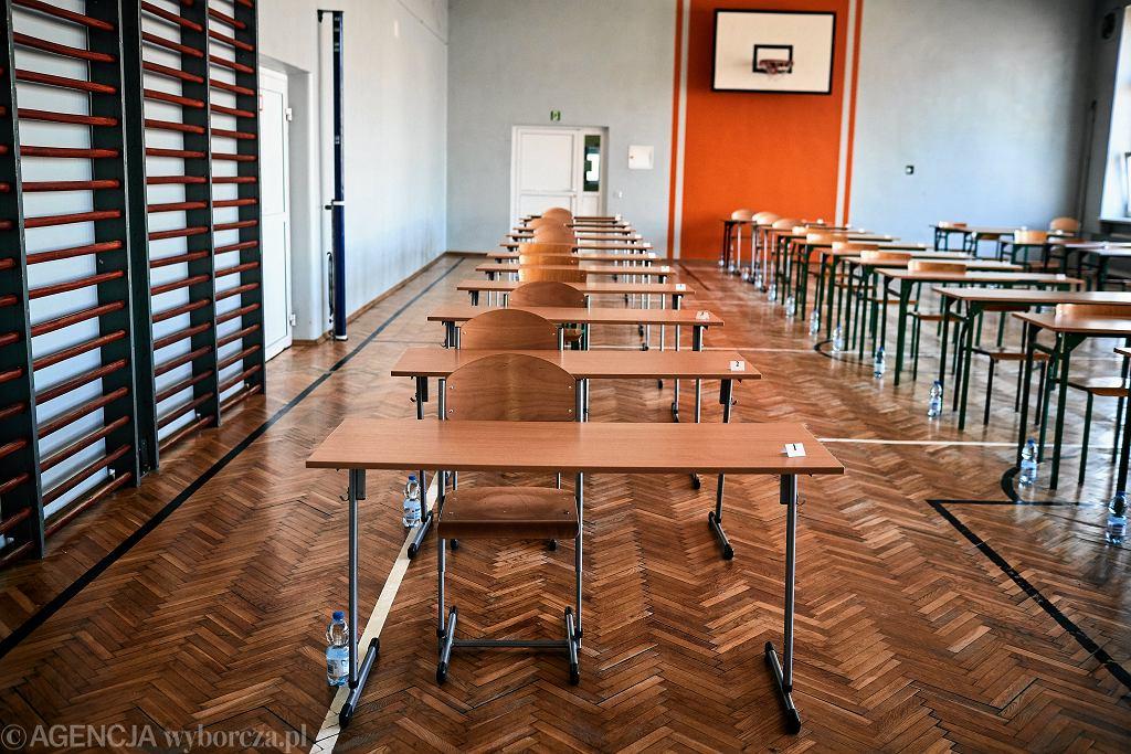 Egzamin ósmoklasisty. Szkoła Podstawowa nr 26, Łódź 16 czerwca 2020
