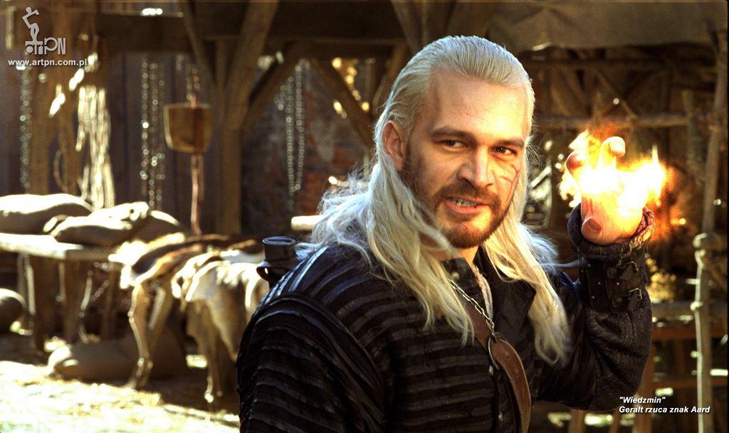 Michał Żebrowski jako wiedźmin Geralt