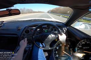 1200-konna Toyota Supra na niemieckiej autostradzie. To robi wrażenie