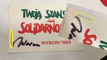 Wlepka zachęcająca do głosowania na kandydatów 'Solidarności' w wyborach 4 czerwca 1989, wydrukowana we Włoszech