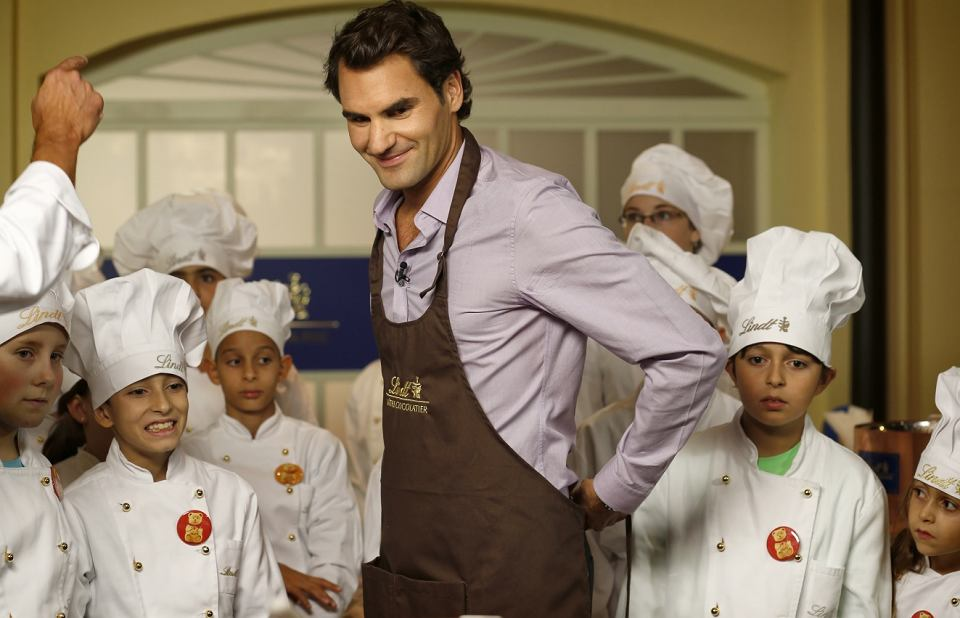 Zdjęcie numer 2 w galerii - Roger Federer w promocji Lindt!