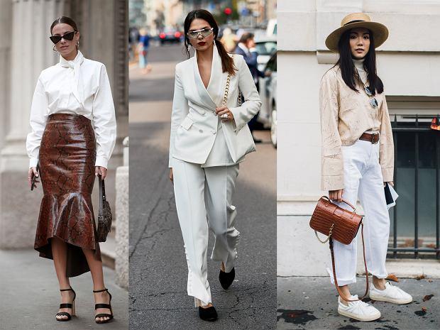 Biały kolor sprawdza się na każdym elemencie ubioru: spódnicy, garniturze, jeansach oraz dodatkach - Fashion Week w Paryżu i Mediolanie