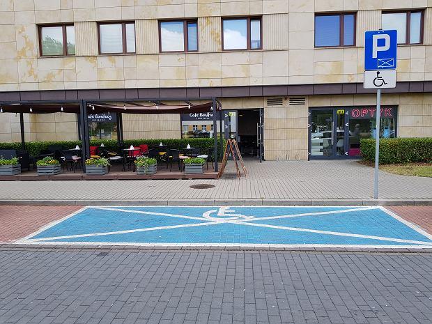 Miejsce do parkowania dla niepełnosprawnych