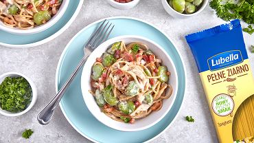 Lubella Pełne Ziarno spaghetti w kremowym sosie