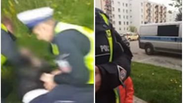 Policja aresztuje rodziców za przejście w miejscu niedozwolonym