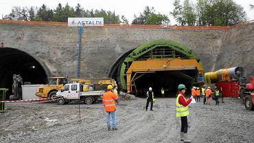 Drążenie tunelu na zakopiance