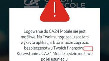 Credit Agricole wprowadza zabezpieczenia w aplikacji
