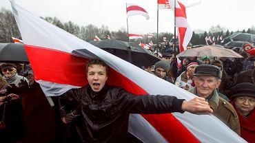 Roman Protasiewicz na demonstracji w Mińsku, 25 marca 2012 r.