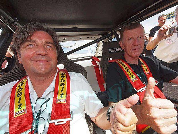 Walter Röhrl ze swoim pilotem Christianem Geistdörfer