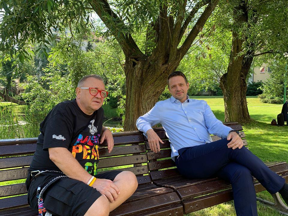 Jerzy Owsiak i Rafał Trzaskowski.
