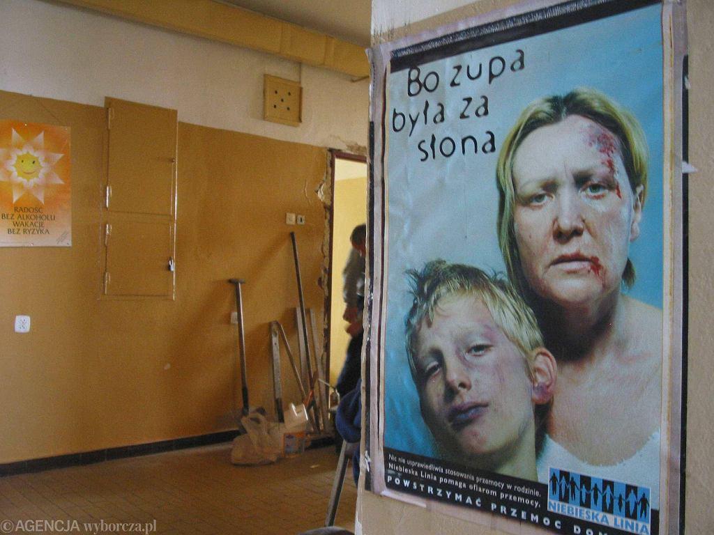Kampania przeciwko przemocy ze słynnym już hasłem (fot. Sebastian Paroń / Agencja Gazeta)