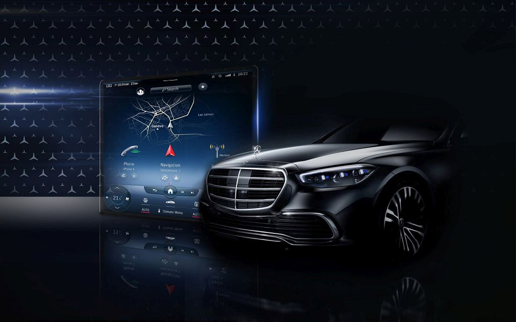 Mercedes klasy S W223 - MBUX