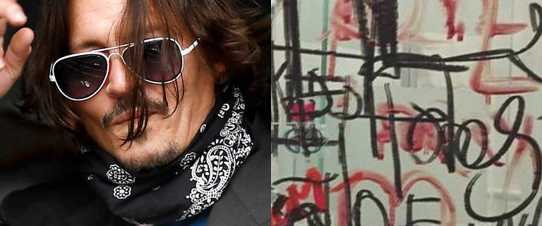 Johnny Depp malował po lustrze krwią z odciętego palca. Przerażające zdjęcia