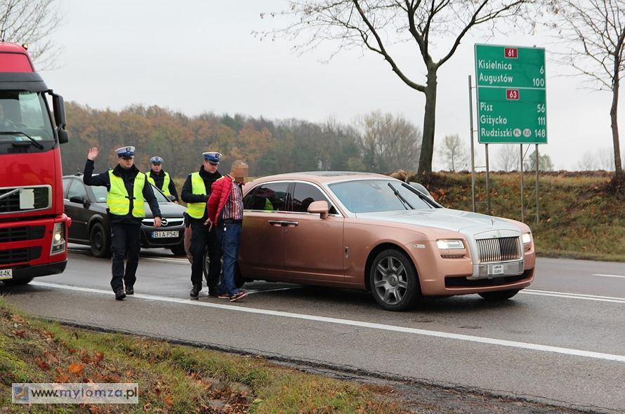 Rolls-Royce Ghost zatrzymany po 60-kilometrowym pościgu