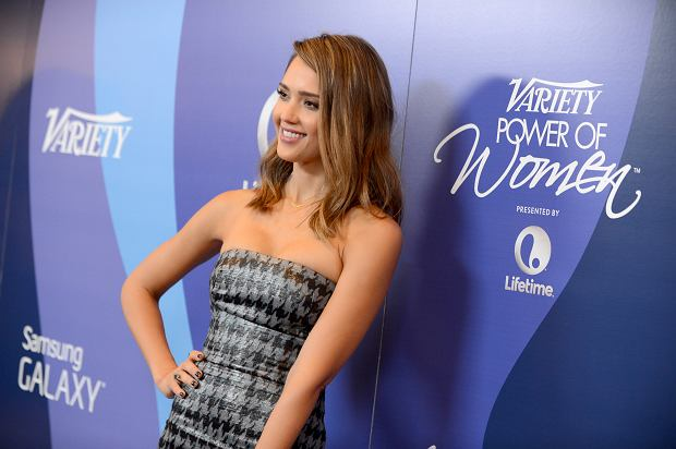 Actress Jessica Alba arrives at Variety's 5th Annual Power of Women event at the Beverly Wilshire Hotel on Friday, Oct. 4, 2013, in Beverly Hills, Calif. (Photo by Jordan Strauss/Invision/AP)