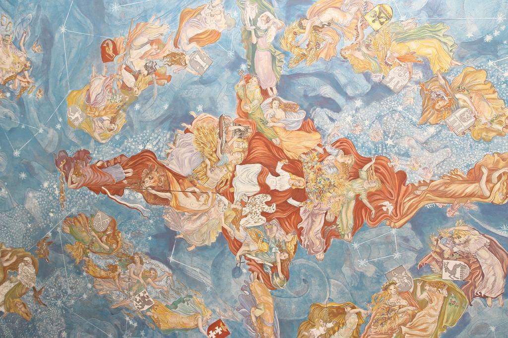 Rekonstrukcja fresku 'Polskie niebo'