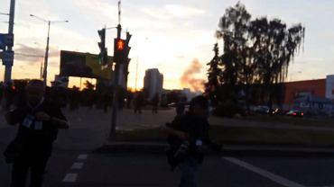 Poniedziałkowe protesty w Mińsku