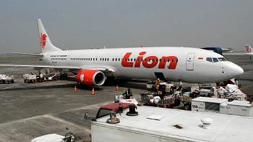 Samolot linii Lion Air na lotnisku Juanda w Surabai w Indonezji