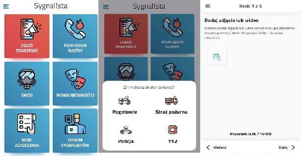 Aplikacja Sygnalista