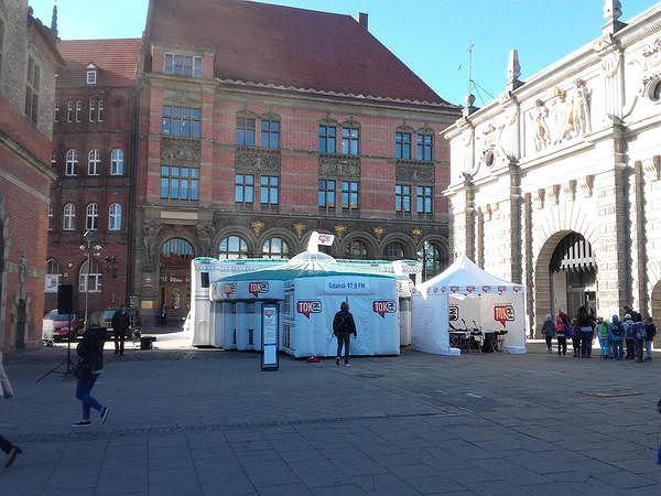 Sejm TOK FM na Targu Węglowym w Gdańsku