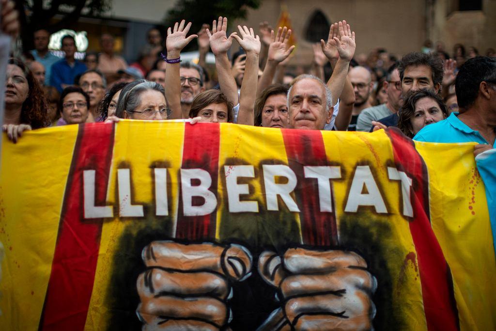 Demonstracja zwolenników niepodległości Katalonii, 23 września 2019
