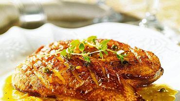 Pierś kaczki w sosie pomarańczowo-pieprzowym