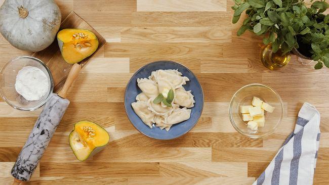 Pierogi z dynią i białym serem