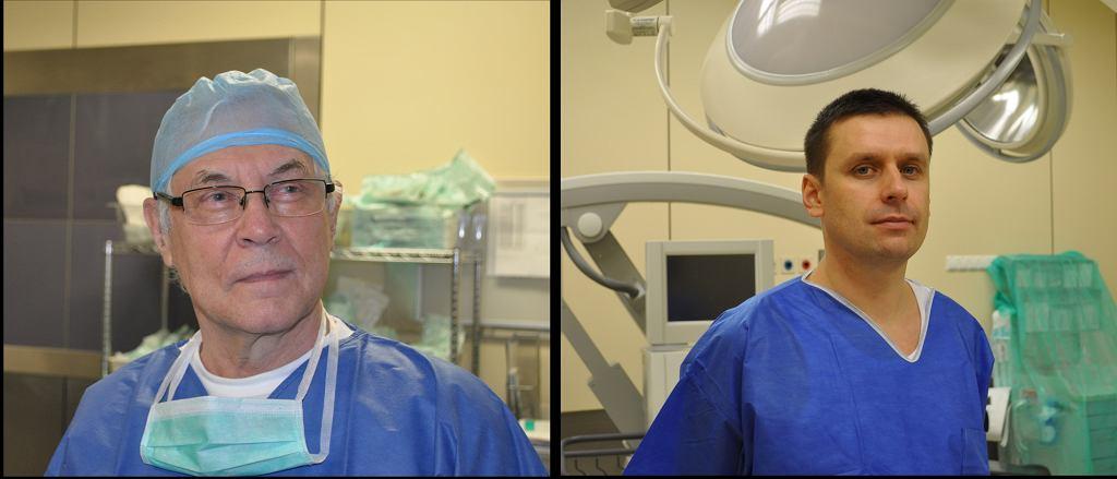 Prof. Jarmundowicz i dr Tabakow