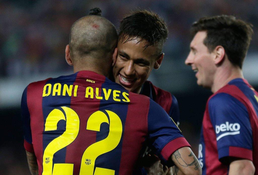Dani Alves, Neymar i Messi