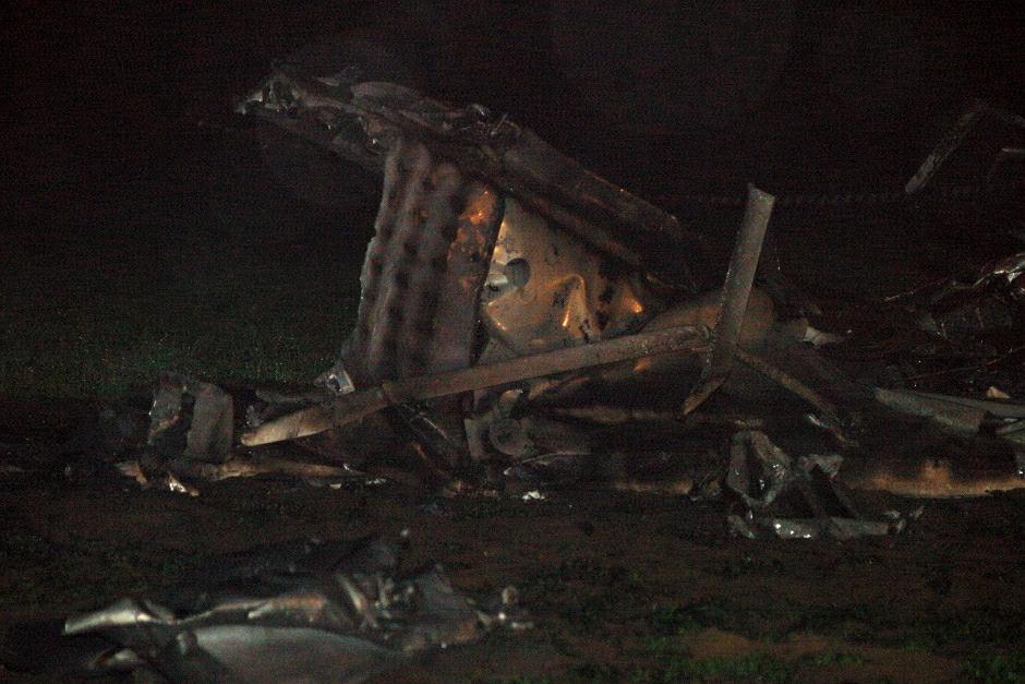Wypadek lekkiego samolot - zdjęcie ilustracyjne