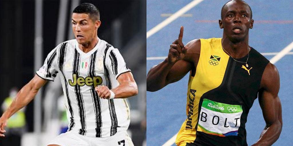 Usain Bolt wypowiedział się na temat Cristiano Ronaldo. 'Jest szybszy ode mnie'