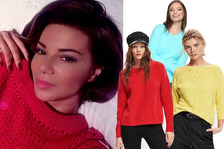 Kolorowe gładkie swetry