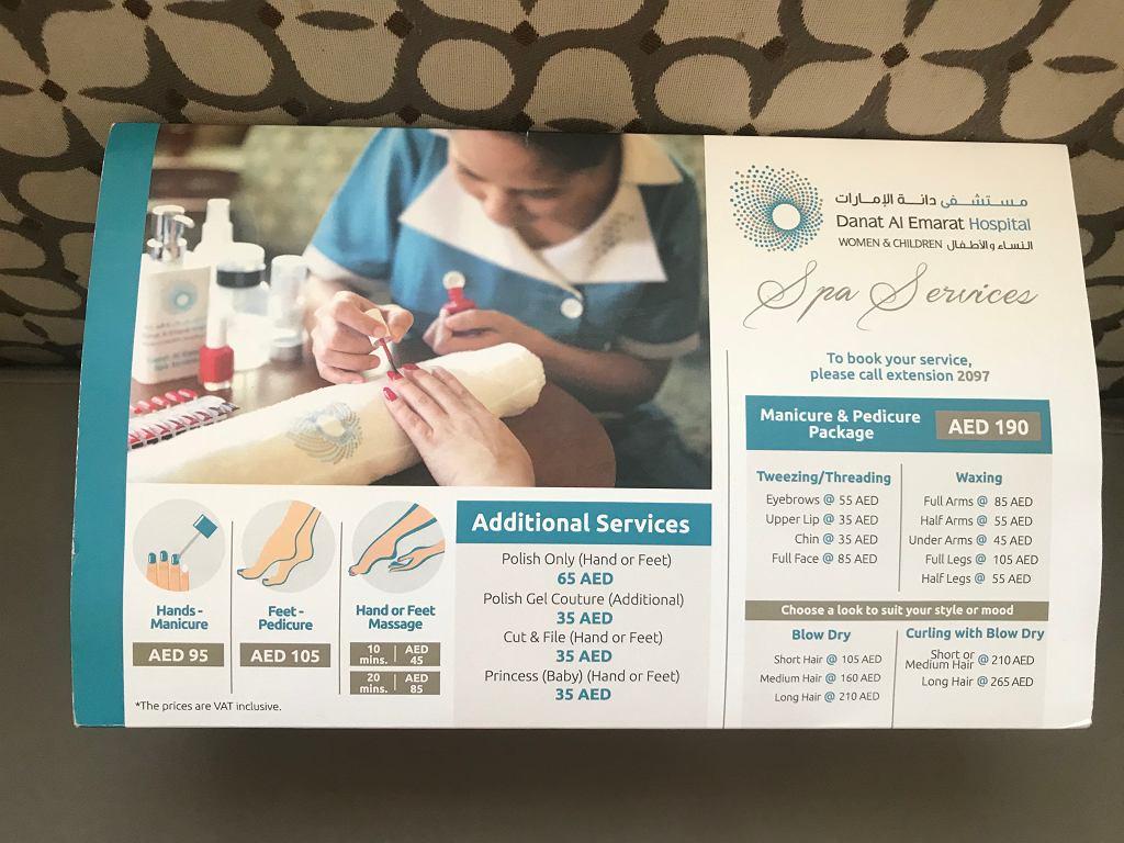 SPA poporodowe w emirackim szpitalu