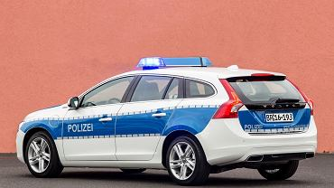 Volvo V60 Plug-in Hybrid w barwach niemieckiej policji