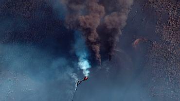 wybuch wulkanu na La Palmie, zdjęcie ilustracyjne