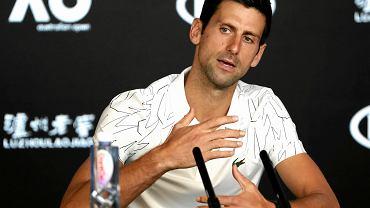 Novak Djoković na konferencji przed Australian Open