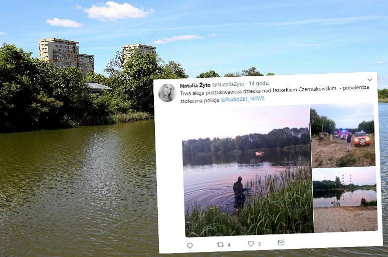 Poszukiwania 10-latka nad jeziorkiem Czerniakowskim