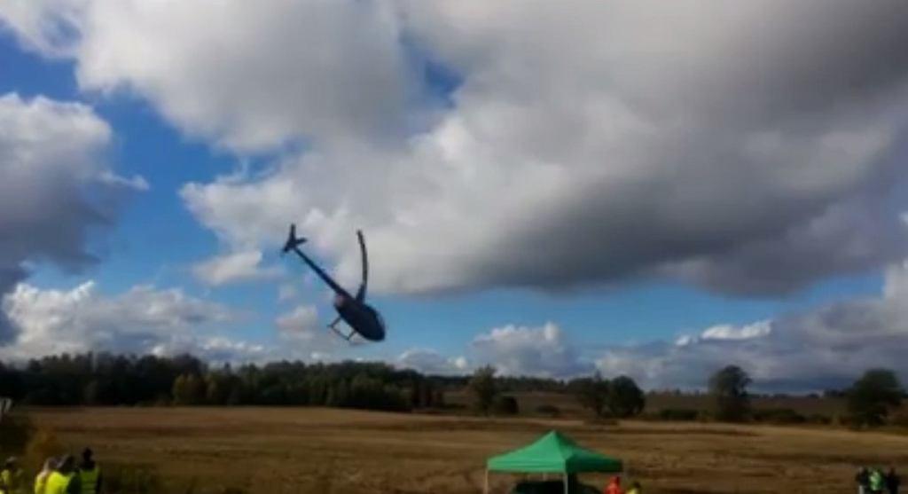 Wypadek helikoptera podczas Rajdu Lipawy