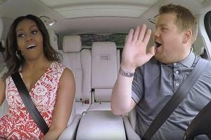 Michelle Obama w programie Carpool Karaoke (kadr z programu)