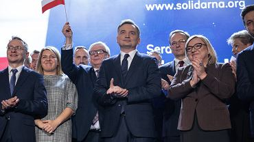 Beata Kempa podczas konwencji partii 'Solidarna Polska' (pod hasłem: 'Sprawiedliwa Polska'). Warszawa, 8 lutego 2020