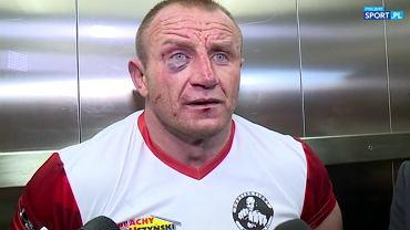 Mariusz Pudzianowski po walce z Jayem Silvą