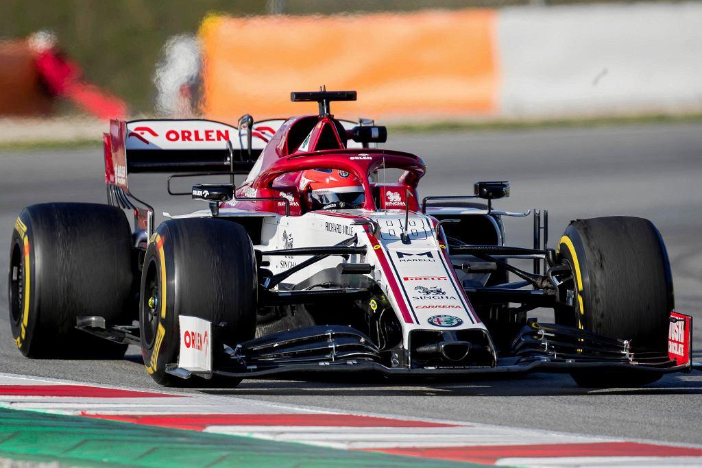 Robert Kubica podczas testów w Barcelonie w lutym 2020 roku